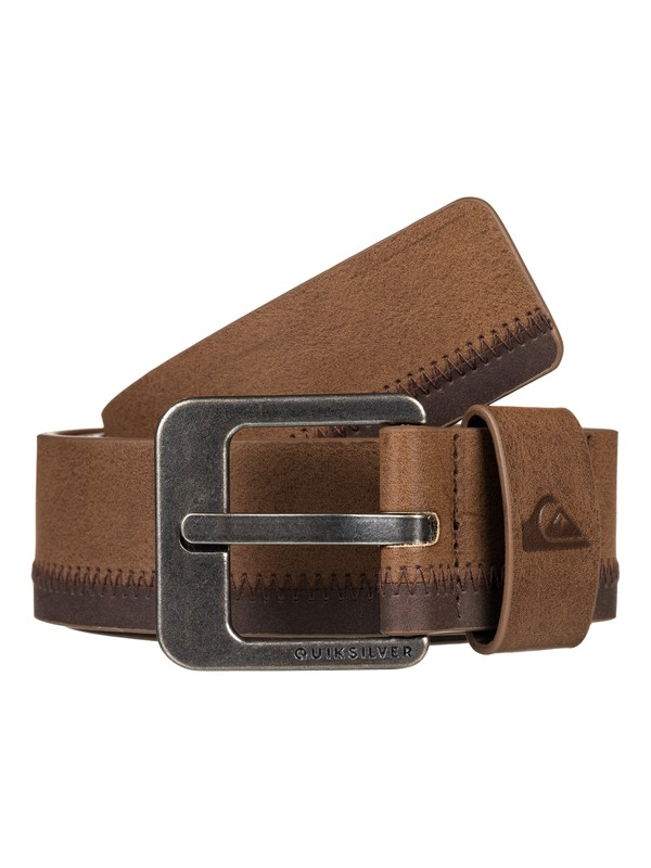 0 Binge Faux Leather Belt Brown EQYAA03830 Quiksilver