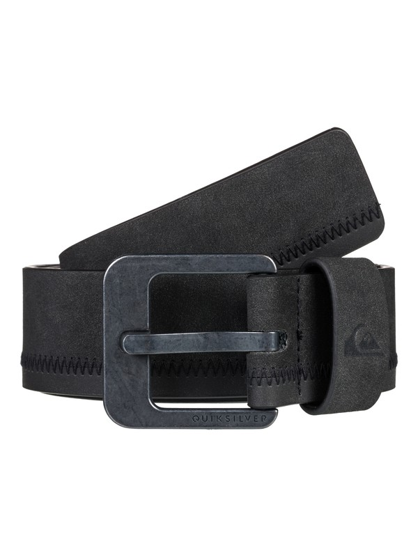 0 Binge Faux Leather Belt Black EQYAA03830 Quiksilver
