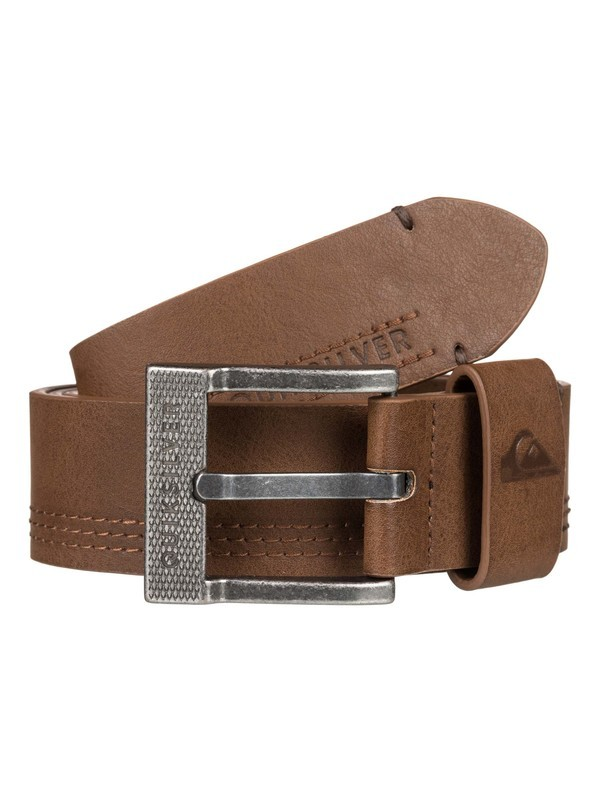 0 Stitchy Update Faux Leather Belt Brown EQYAA03831 Quiksilver