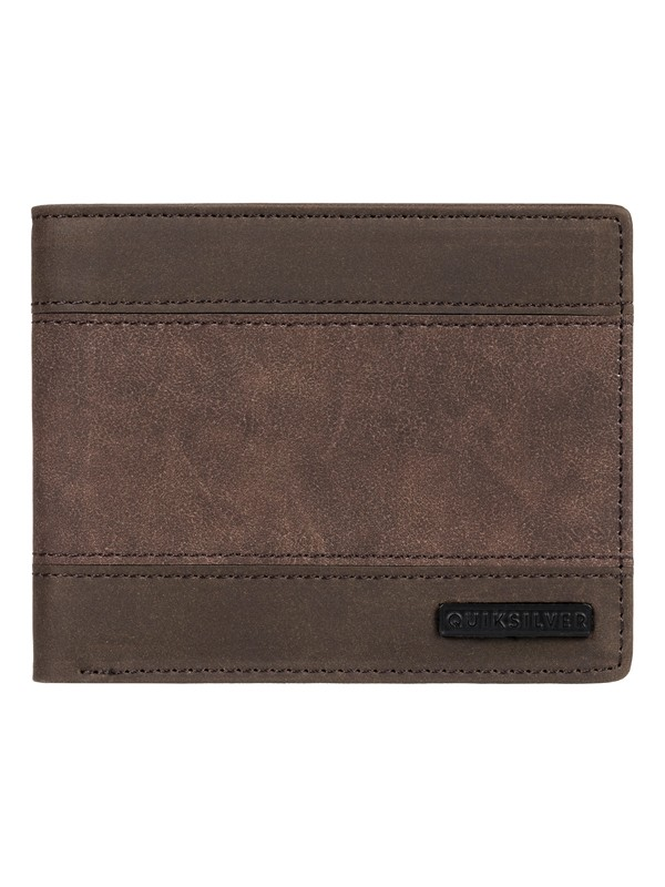 0 Supply Slim Bi-Fold Leather Wallet Brown EQYAA03838 Quiksilver