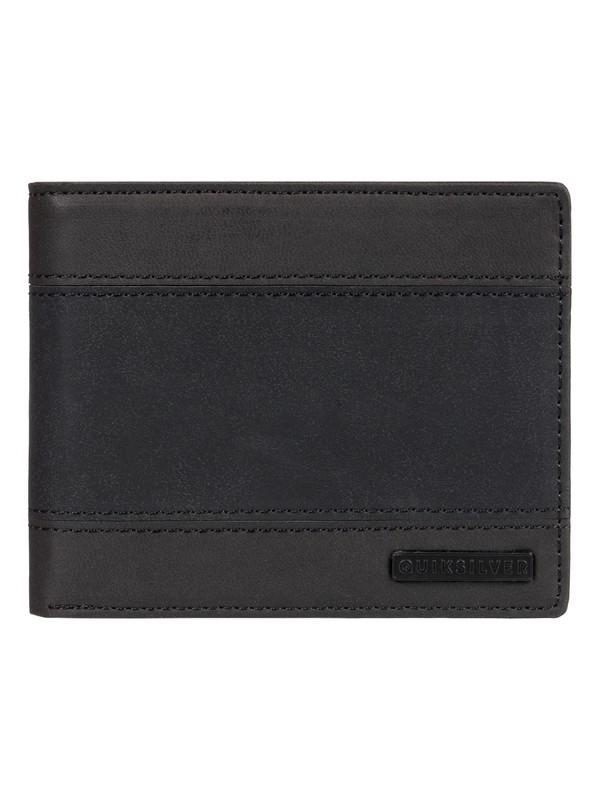0 Supply Slim Bi-Fold Leather Wallet Black EQYAA03838 Quiksilver