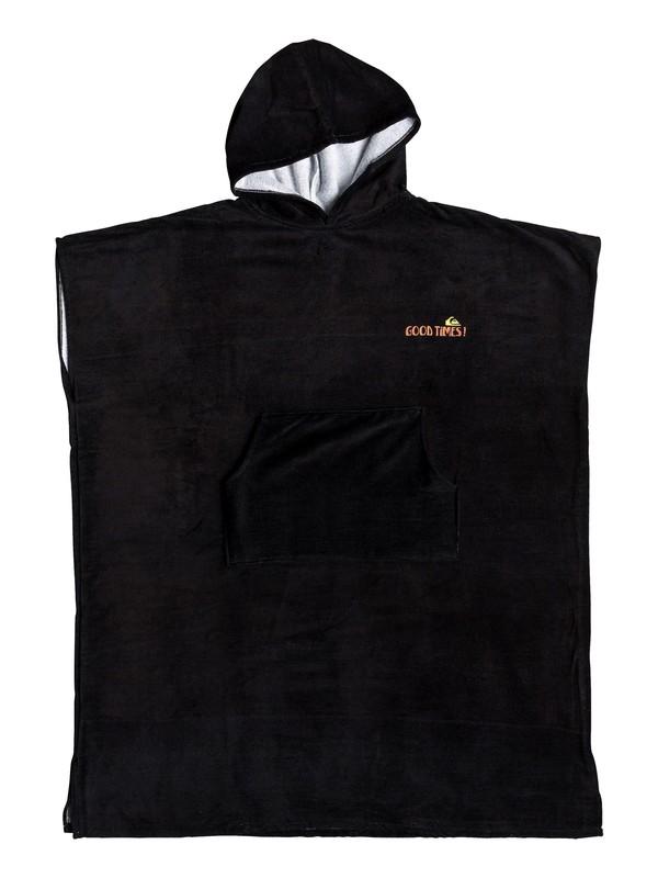 0 Hoody - Poncho para Surf con Capucha Negro EQYAA03842 Quiksilver