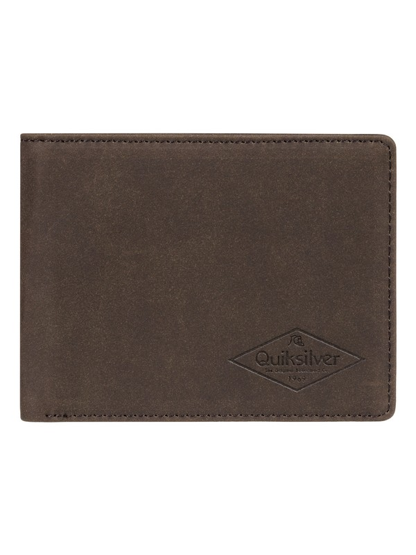 0 Slim Vintage Bi-Fold Leather Wallet Brown EQYAA03848 Quiksilver