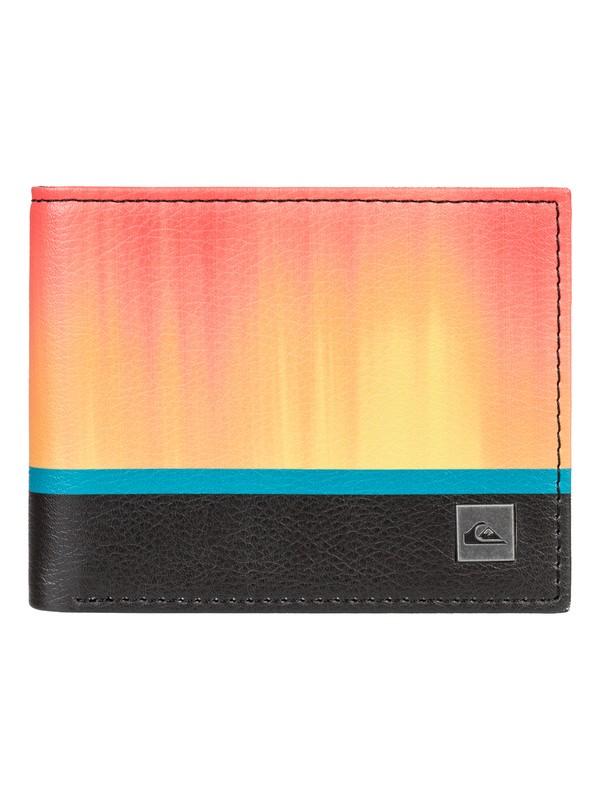 0 Freshness Bi-Fold Leather Wallet Blue EQYAA03849 Quiksilver