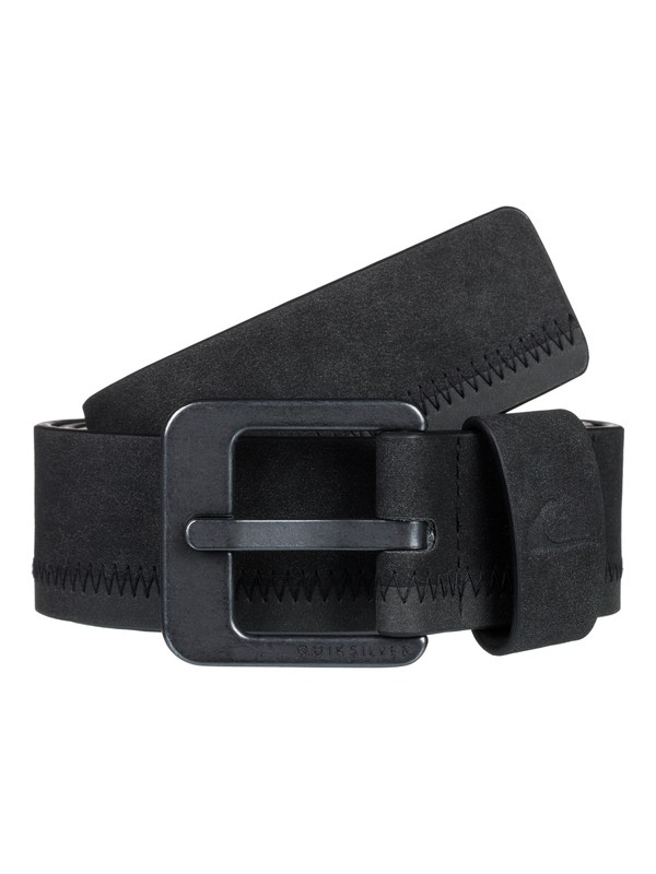 0 Binge Faux Leather Belt Black EQYAA03853 Quiksilver