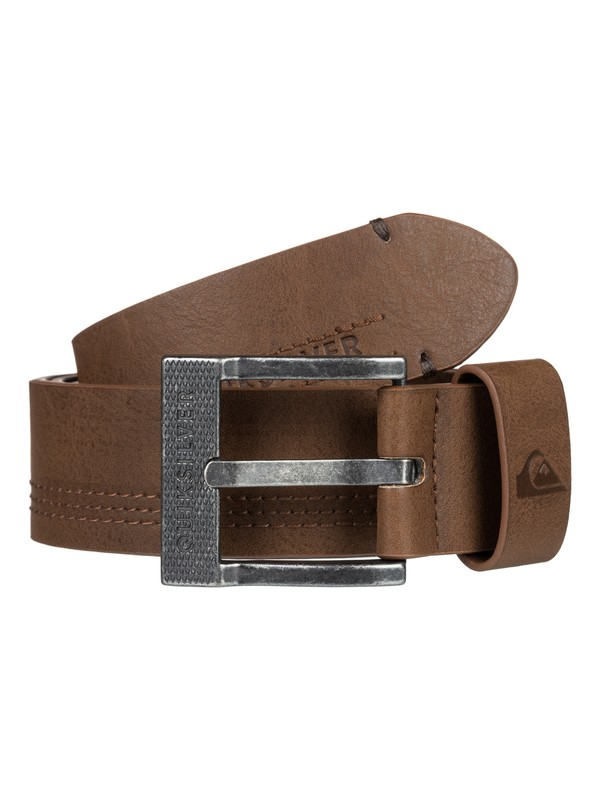 0 Stitchy Faux Leather Belt Brown EQYAA03855 Quiksilver