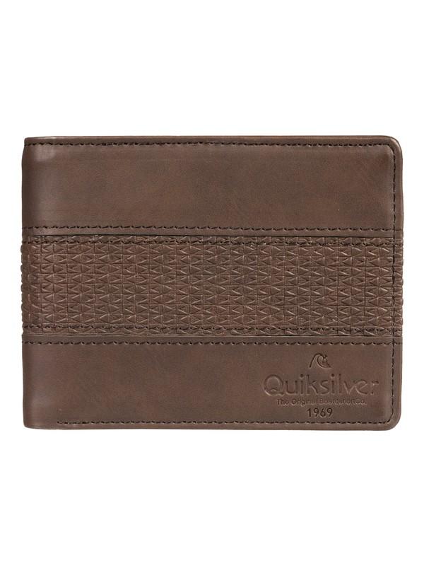 0 Wavegarden Bi-Fold Wallet Brown EQYAA03864 Quiksilver
