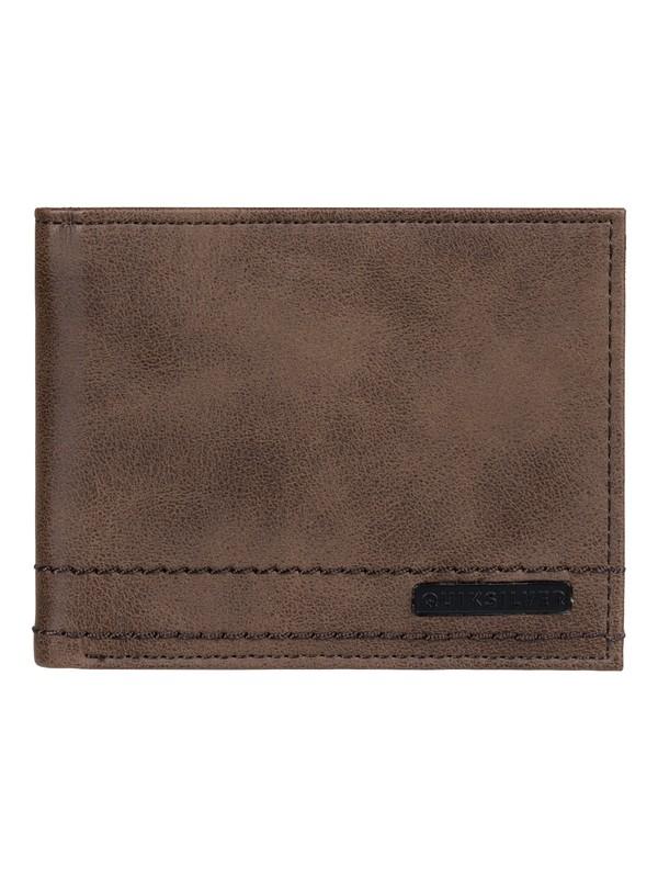 0 Stitchy Bi-Fold Wallet Brown EQYAA03874 Quiksilver