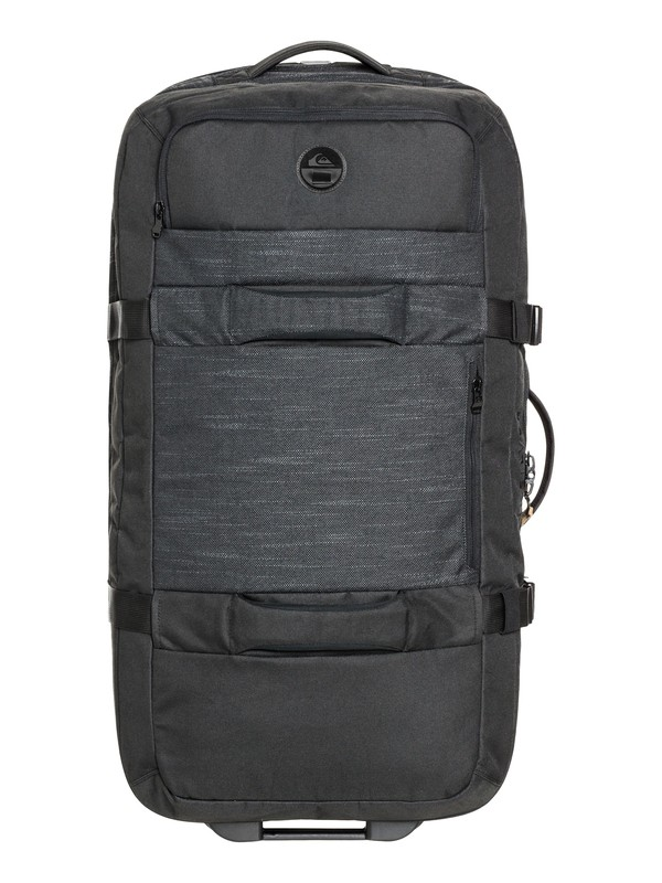 0 New Reach 100L ExtraLarge Wheeled Suitcase Black EQYBL03139 Quiksilver