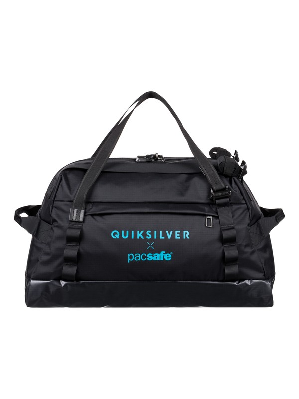 0 Pacsafe X QS 40L - Large Anti-Theft Wet/Dry Duffle Bag Black EQYBL03168 Quiksilver