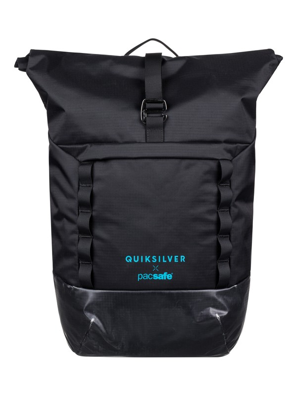 0 Pacsafe X QS 30L - Large Anti-Theft Wet/Dry Backpack Black EQYBP03552 Quiksilver
