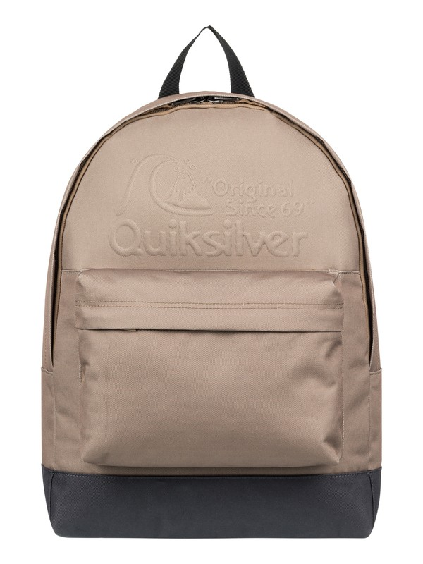 0 Everyday Poster Embossed 25L - Medium Backpack Grey EQYBP03558 Quiksilver