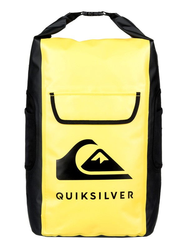 0 Sea Stash 35L Medium Roll-Top Wet/Dry Surf Backpack Yellow EQYBP03562 Quiksilver