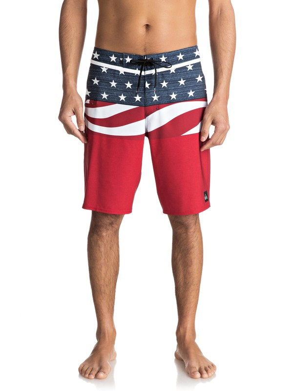 "0 Everyday Blocked Vee 20"" Boardshorts Red EQYBS03573 Quiksilver"