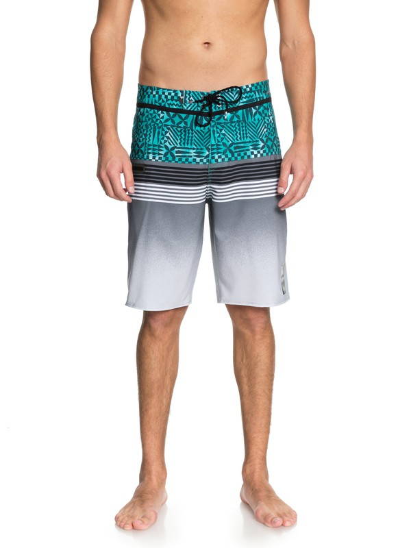 "0 Highline Division Hawaii 21"" Boardshorts Green EQYBS03853 Quiksilver"