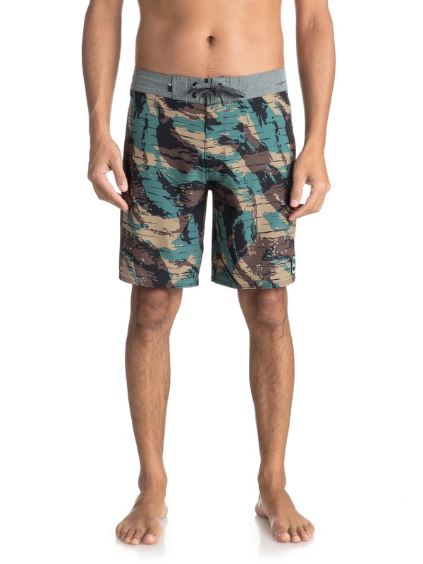 """0 Highline Variable 19"""" Boardshorts Green EQYBS03906 Quiksilver"""