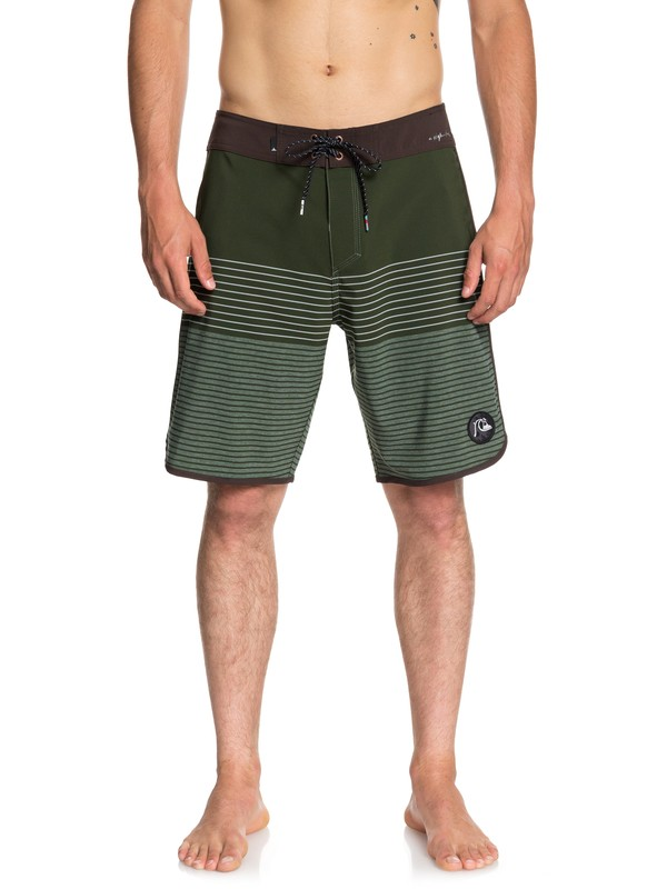 "0 Highline Tijuana Scallop 20"" Boardshorts Brown EQYBS03998 Quiksilver"
