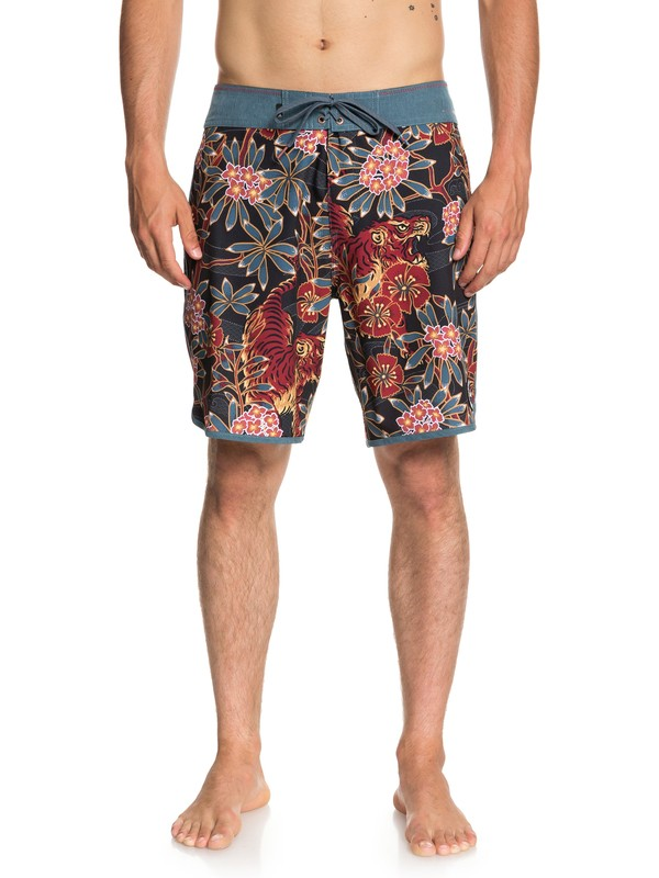 "0 Highline Silent Fury 19"" Boardshorts Blue EQYBS04006 Quiksilver"