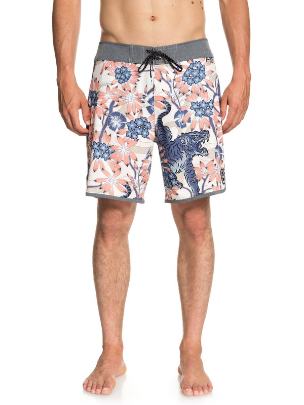 "0 Highline Silent Fury 18"" - Board Shorts for Men White EQYBS04007 Quiksilver"