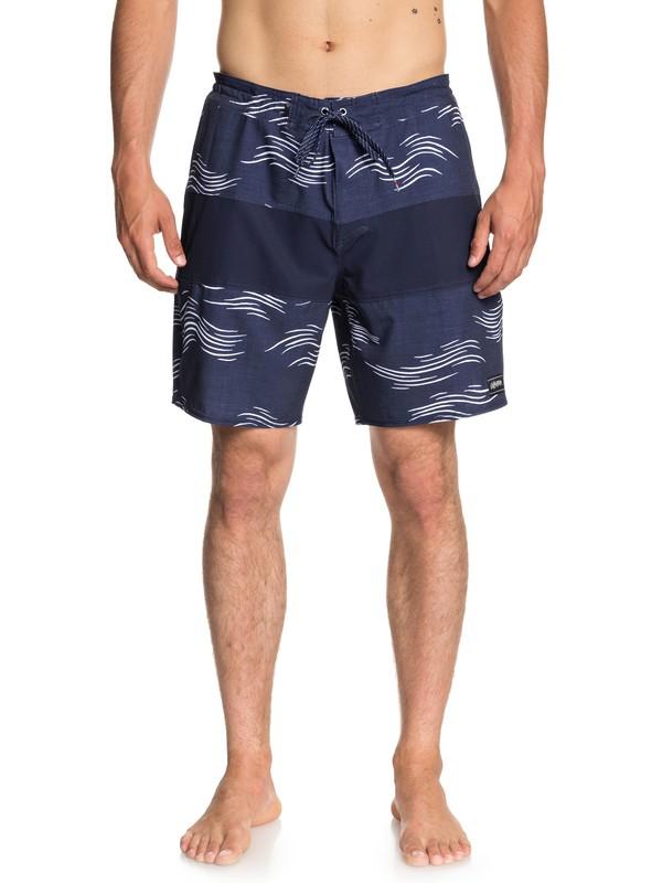 """0 Baja Variable 18"""" Beach Shorts Blue EQYBS04022 Quiksilver"""