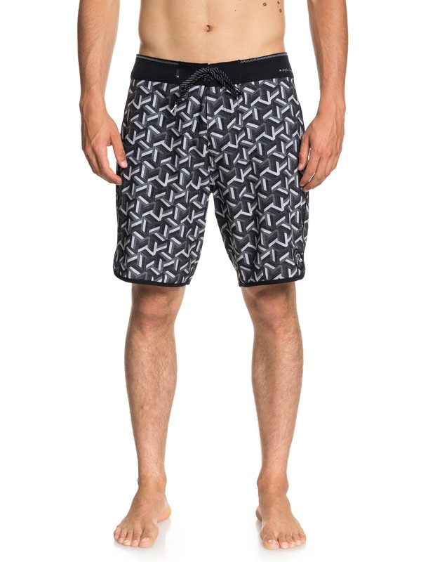 "0 Highline Zen Scallop 19"" Boardshorts Black EQYBS04029 Quiksilver"