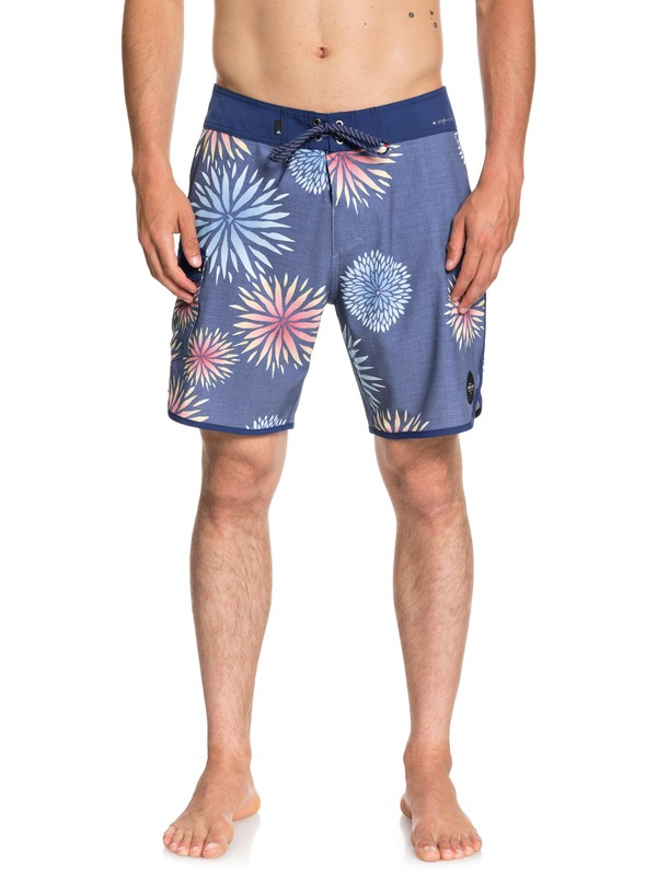 "0 Boardshorts Highline Okinawa Scallop 18"" Azul EQYBS04043 Quiksilver"