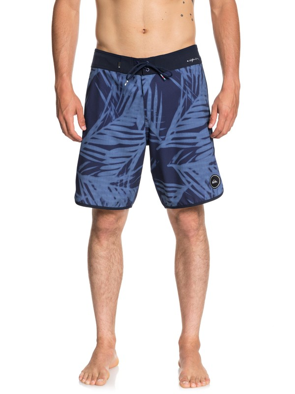 "0 Highline Pixel Palms 19"" Boardshorts Blue EQYBS04044 Quiksilver"