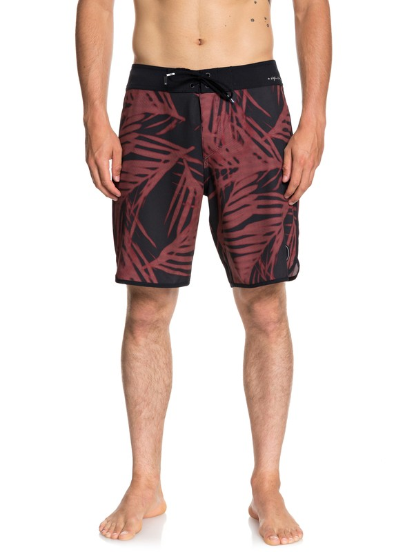 """0 Highline Pixel Palms 19"""" Boardshorts Red EQYBS04044 Quiksilver"""