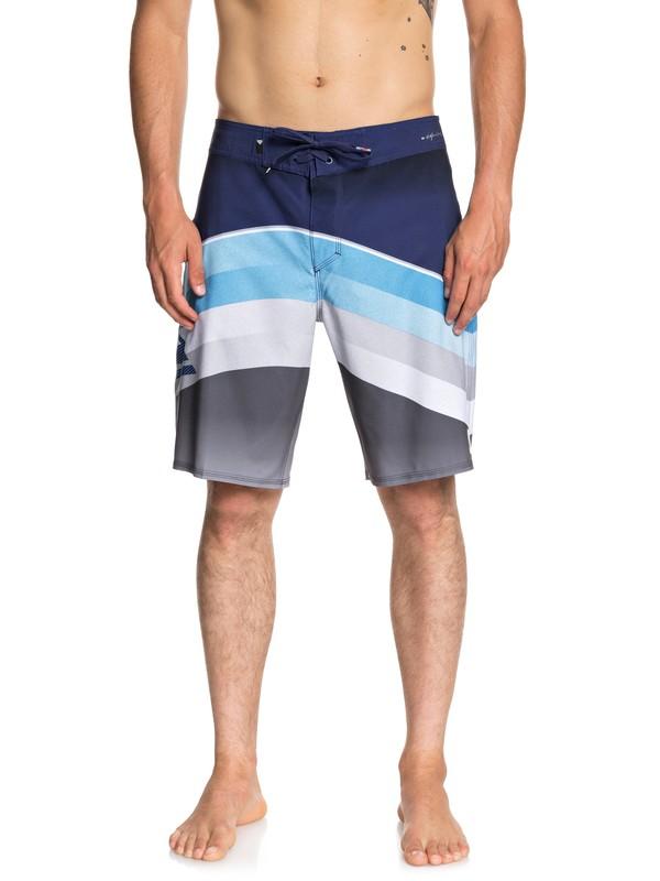 "0 Highline Slab 20"" Boardshorts Blue EQYBS04050 Quiksilver"