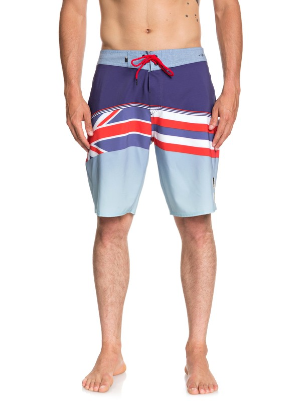 """0 Highline Hawaii Serious 20"""" Boardshorts Blue EQYBS04053 Quiksilver"""