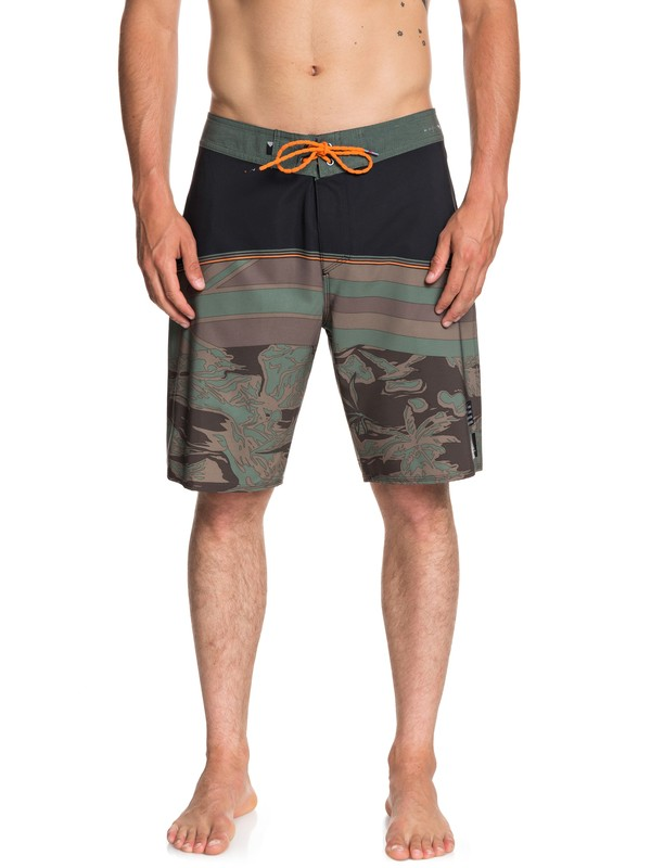 """0 Highline Hawaii Serious 20"""" Boardshorts Brown EQYBS04053 Quiksilver"""