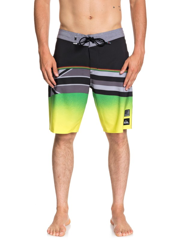 "0 Highline Hawaii Serious 20"" Boardshorts Black EQYBS04053 Quiksilver"