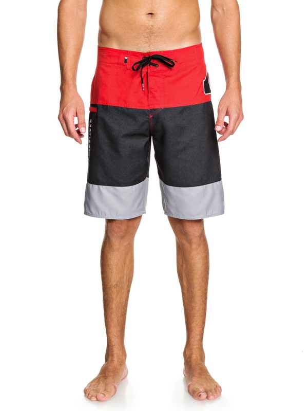 "0 Fluid Force 20"" Boardshorts Red EQYBS04059 Quiksilver"
