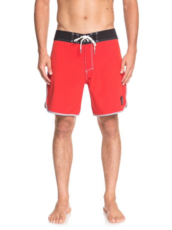 "0 Highline Scallop 18"" Boardshorts Red EQYBS04081 Quiksilver"