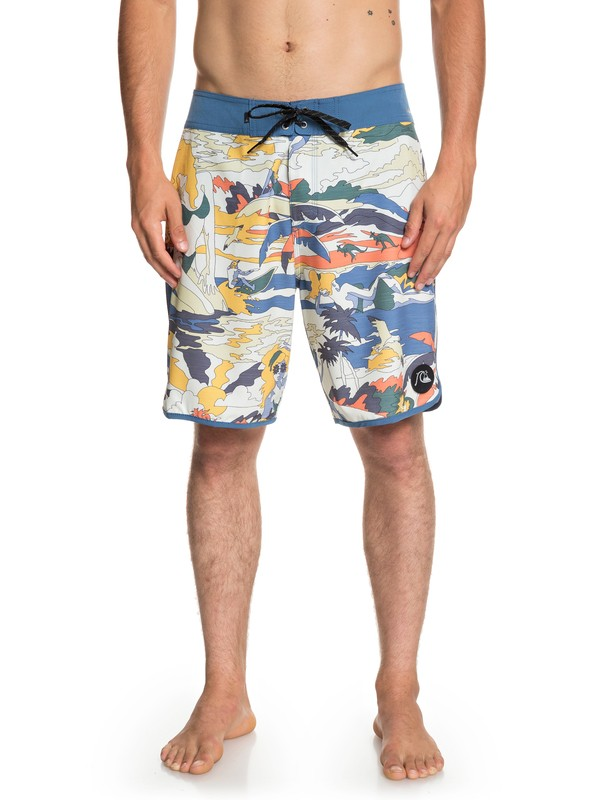 "0 Highline Feelin Fine 19"" Boardshorts Blue EQYBS04087 Quiksilver"