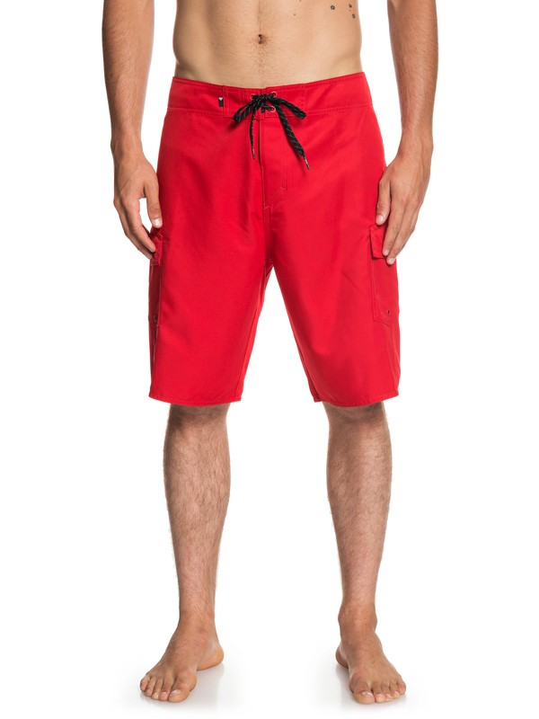 "0 Manic Solid 21"" Boardshorts Red EQYBS04089 Quiksilver"