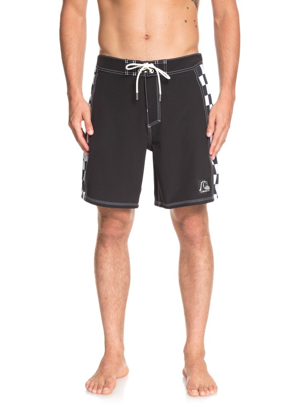 "0 Highline Checker Arch 18"" - Board Shorts for Men Black EQYBS04137 Quiksilver"