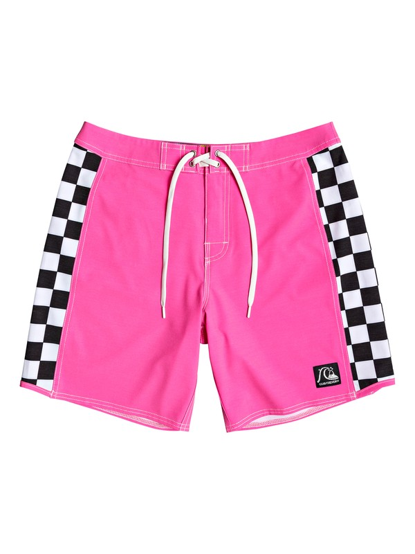 "0 Echo Beach Checker 18"" Boardshorts Pink EQYBS04141 Quiksilver"