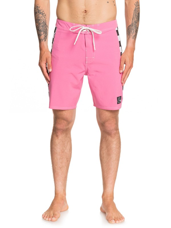 "0 Echo Beach Checker 18"" - Board Shorts for Men Pink EQYBS04141 Quiksilver"