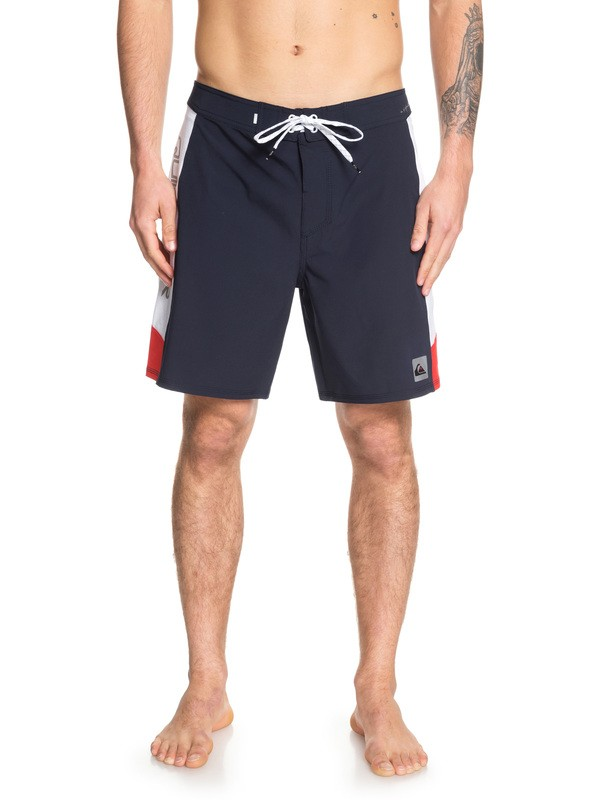 """0 Highline Fade Arch 18"""" Boardshorts Blue EQYBS04168 Quiksilver"""