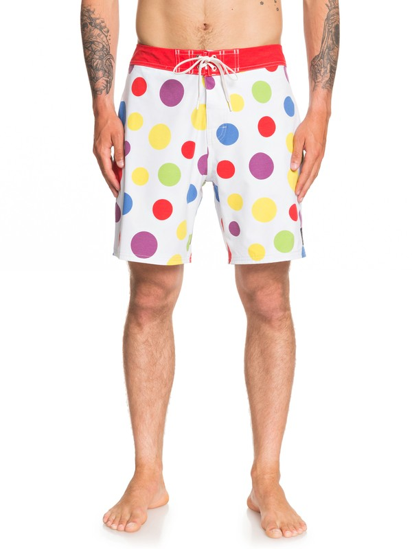 0 Echo Beach Polka Dot Boardshorts White EQYBS04195 Quiksilver