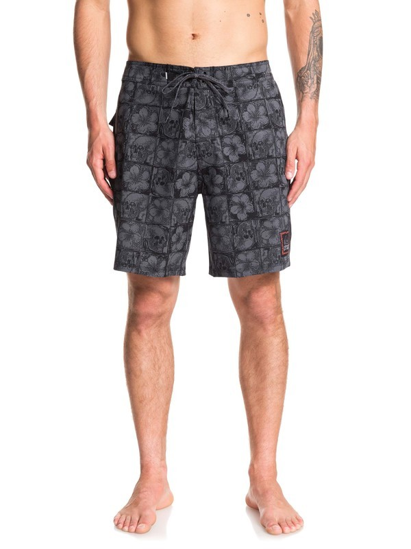 "0 Highline Dead Floral 18"" - Board Shorts Black EQYBS04206 Quiksilver"