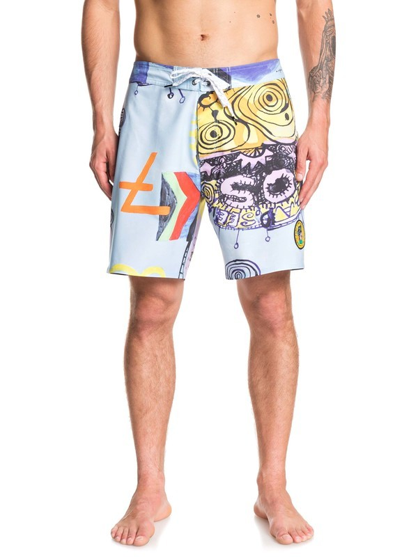 "0 Highline Art House 18"" - Board Shorts Blue EQYBS04218 Quiksilver"