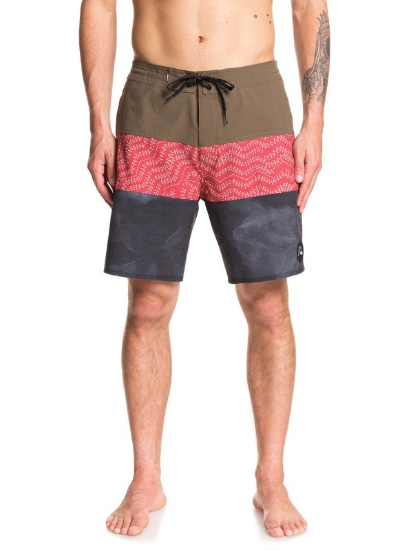 "0 Washed 18"" Beachshorts Brown EQYBS04241 Quiksilver"