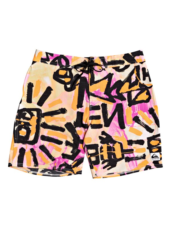 "0 Warpaint 18"" Boardshorts Orange EQYBS04255 Quiksilver"