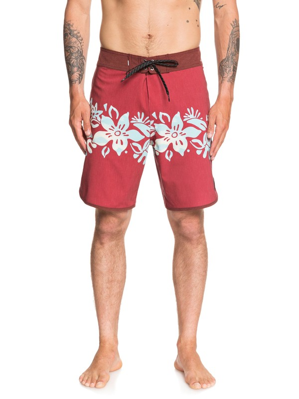 "0 Highline Bush Wacked 19"" Boardshorts Red EQYBS04257 Quiksilver"