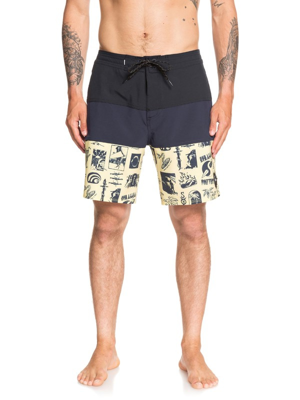 "0 Strange Patterns 18"" Beachshorts Blue EQYBS04278 Quiksilver"