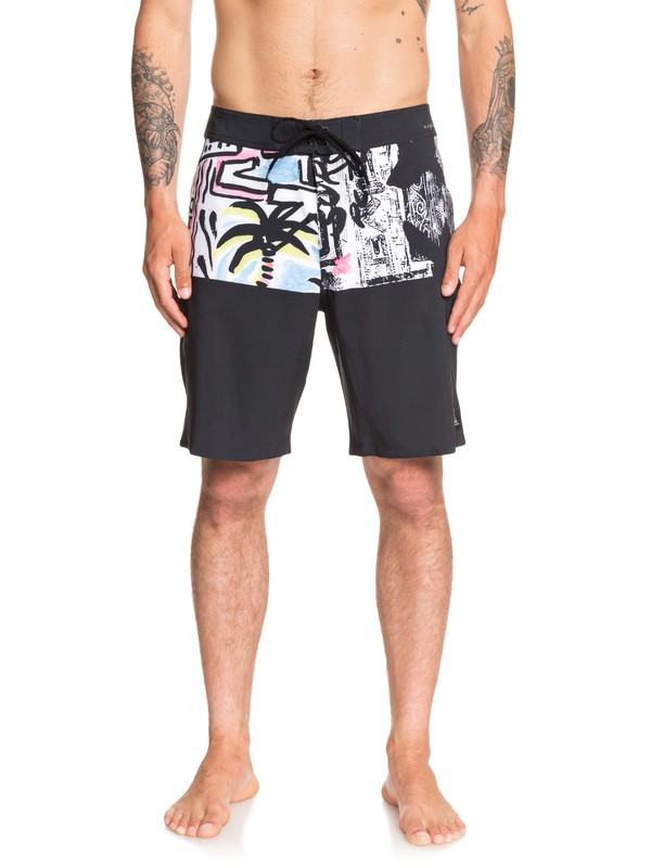"""0 Highline Division Deluxe 19"""" Boardshorts Black EQYBS04281 Quiksilver"""