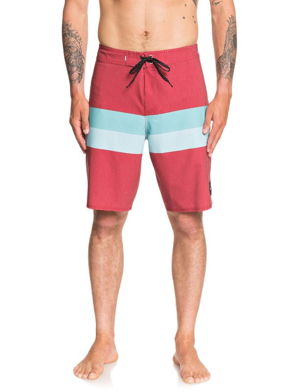 "0 Highline Seasons 20"" Boardshorts Red EQYBS04284 Quiksilver"