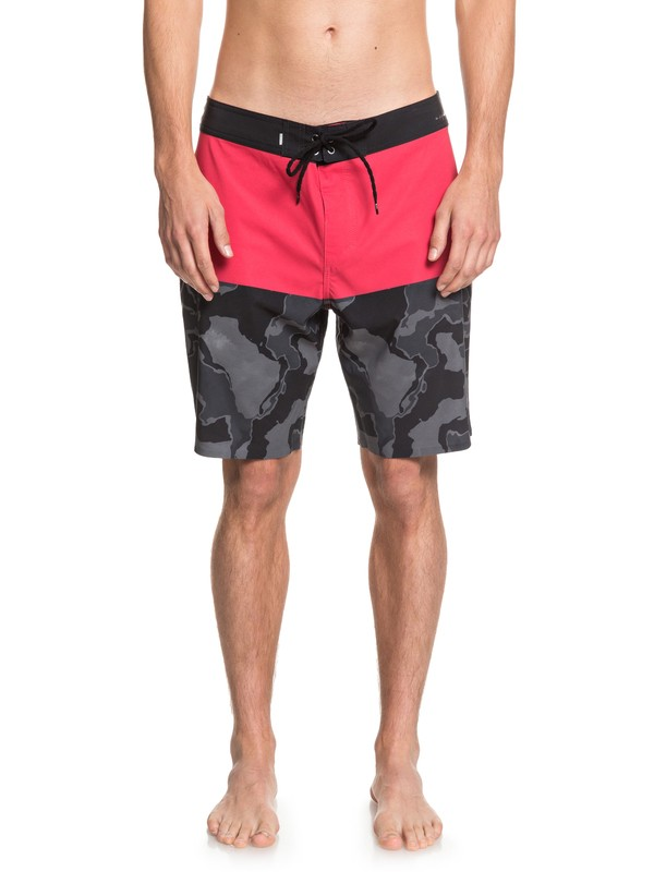 "0 Highline Division Deluxe 19"" - Board Shorts Red EQYBS04295 Quiksilver"